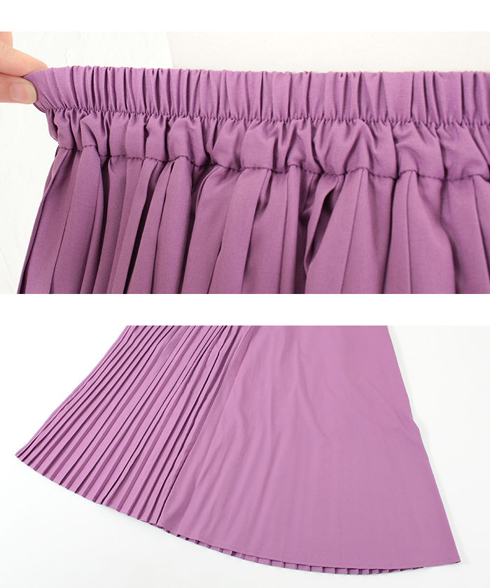 プリーツラップロングスカート15