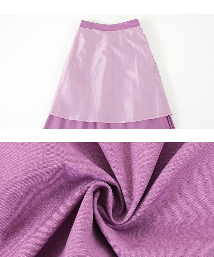 プリーツラップロングスカート16