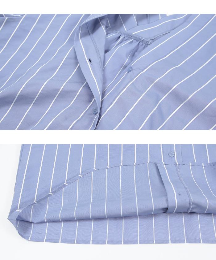 バックタックストライプシャツ15