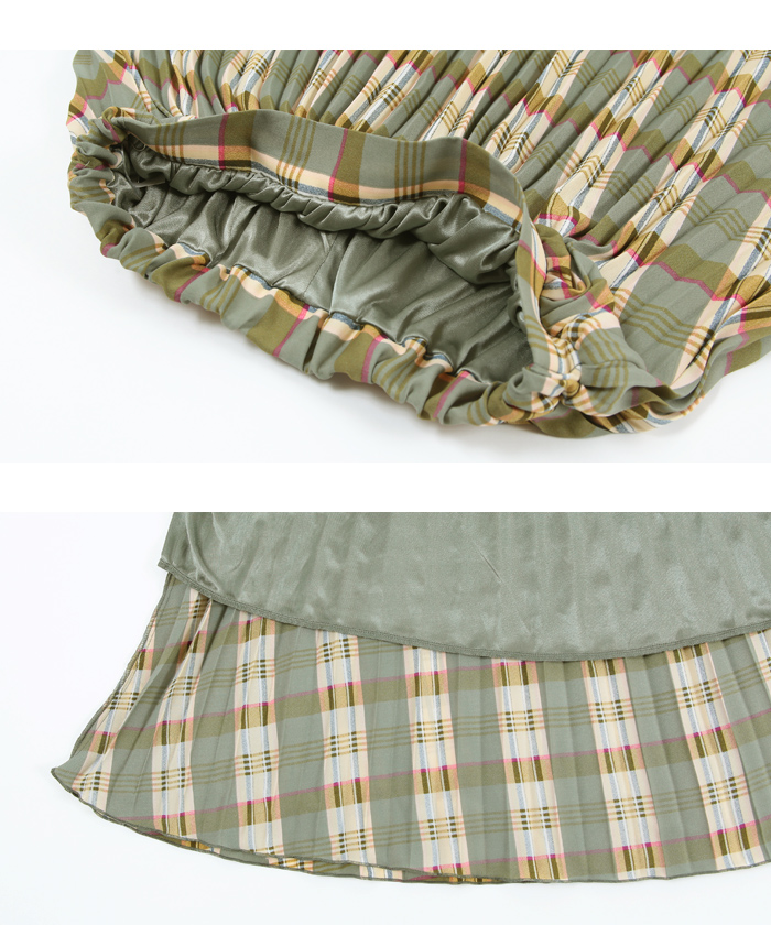 チェックプリーツスカート15