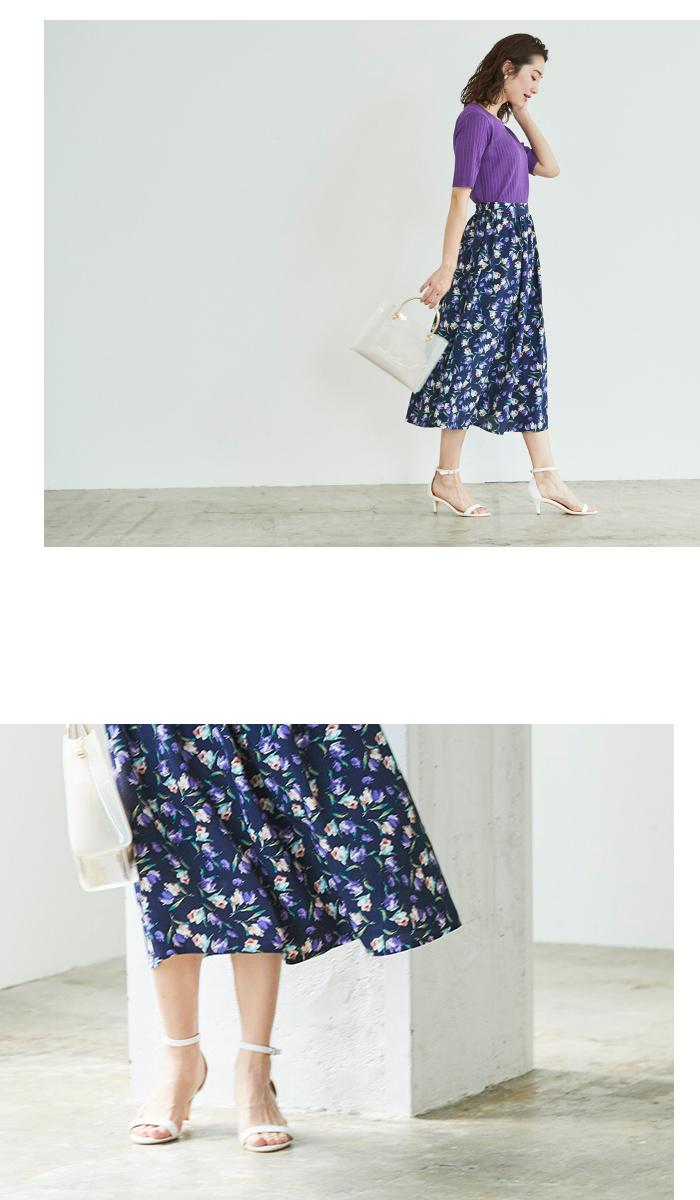 チューリップ柄フレアスカート4