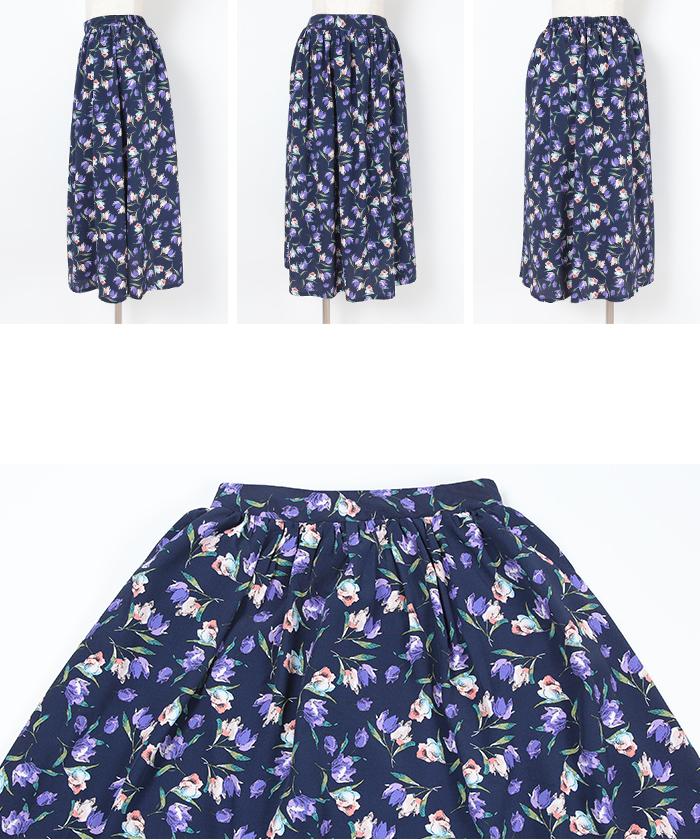 チューリップ柄フレアスカート14