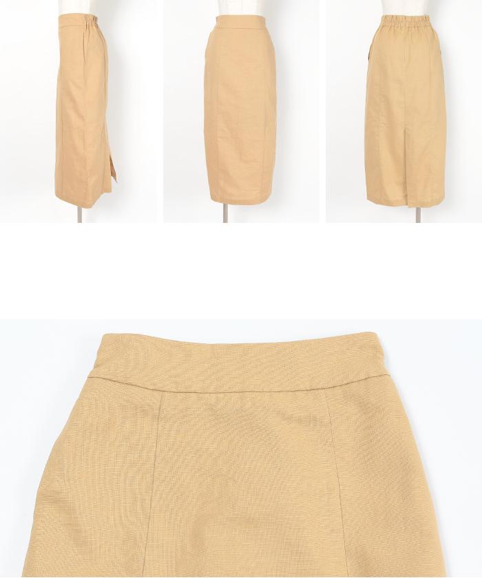 麻混ハイウエストタイトスカート14