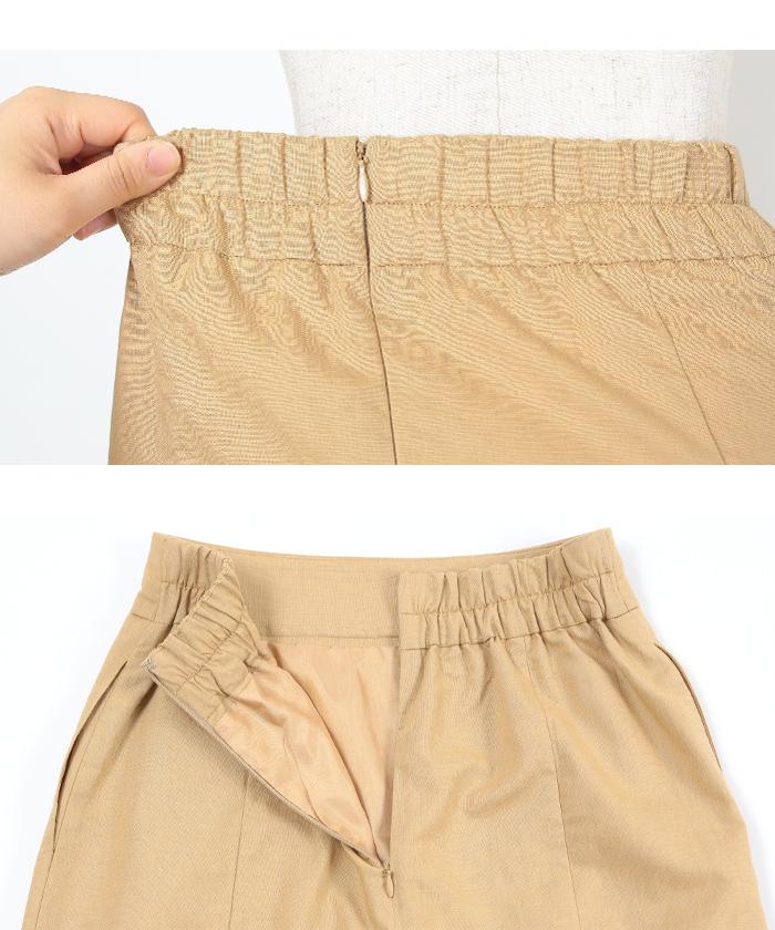 麻混ハイウエストタイトスカート15
