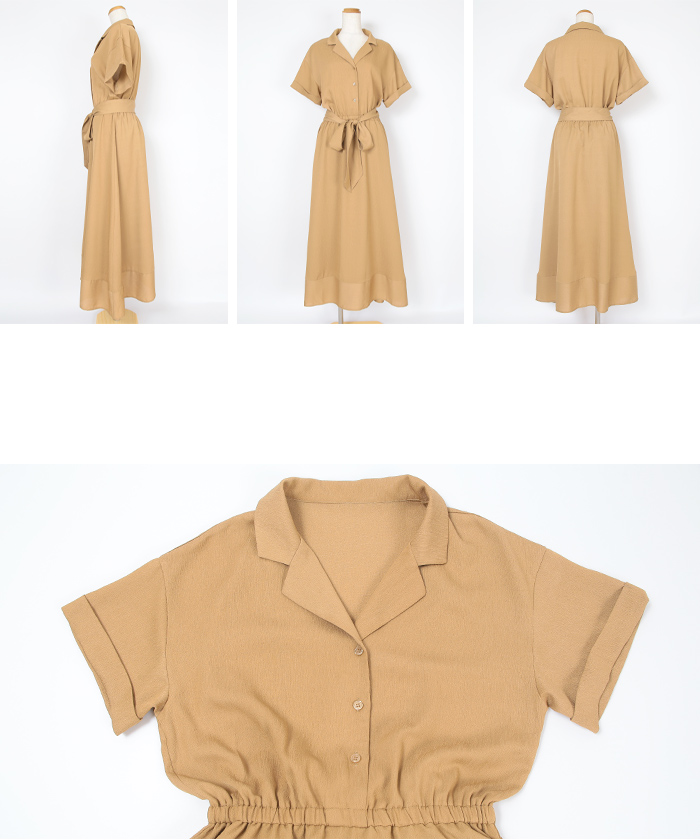 リボン付半袖シャツワンピース14