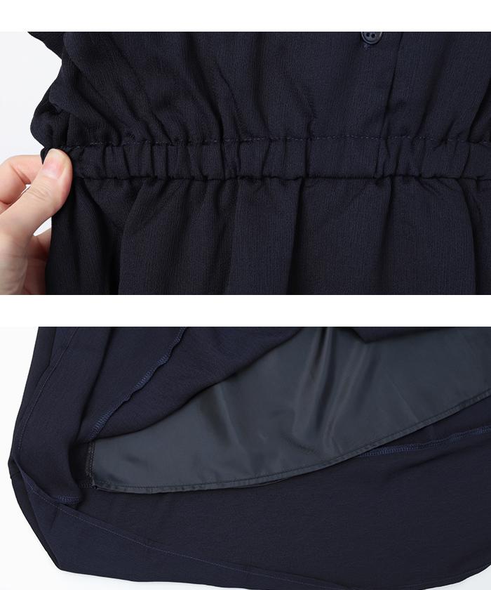 リボン付半袖シャツワンピース15
