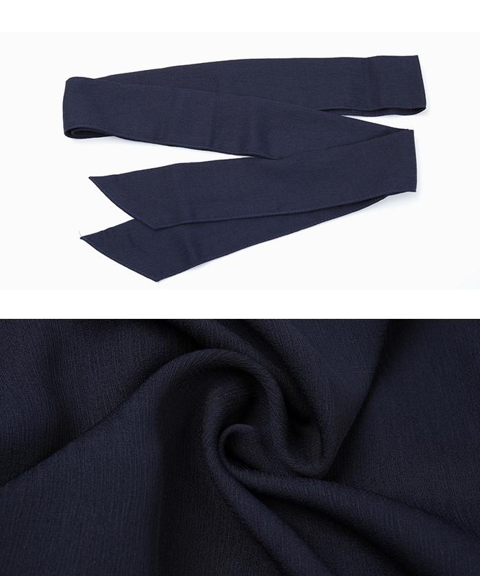 リボン付半袖シャツワンピース16