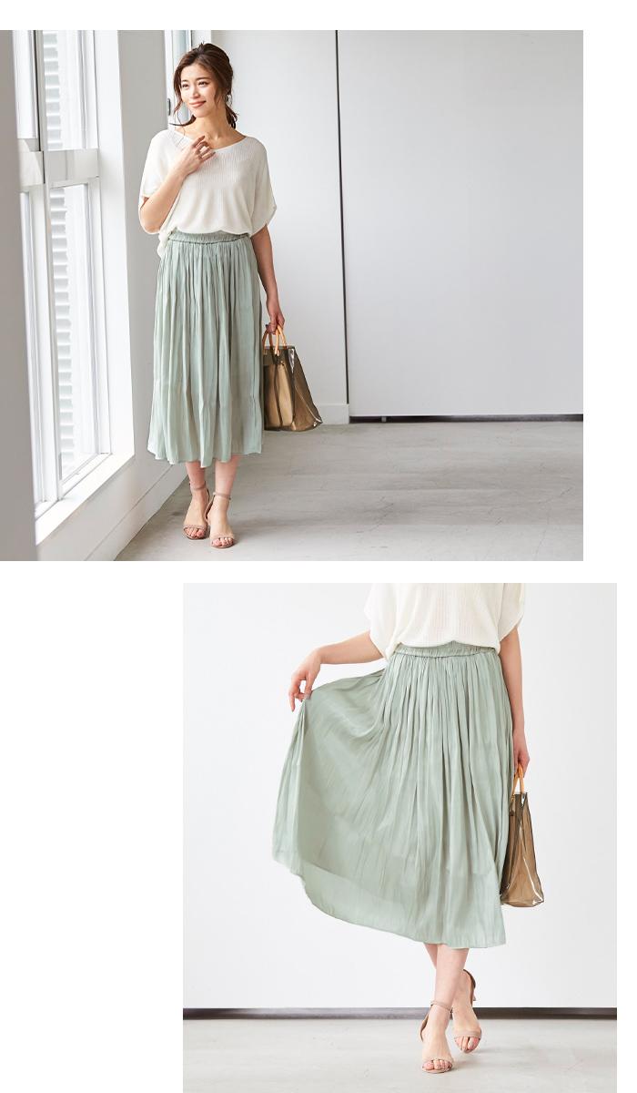 シャイニーギャザースカート4
