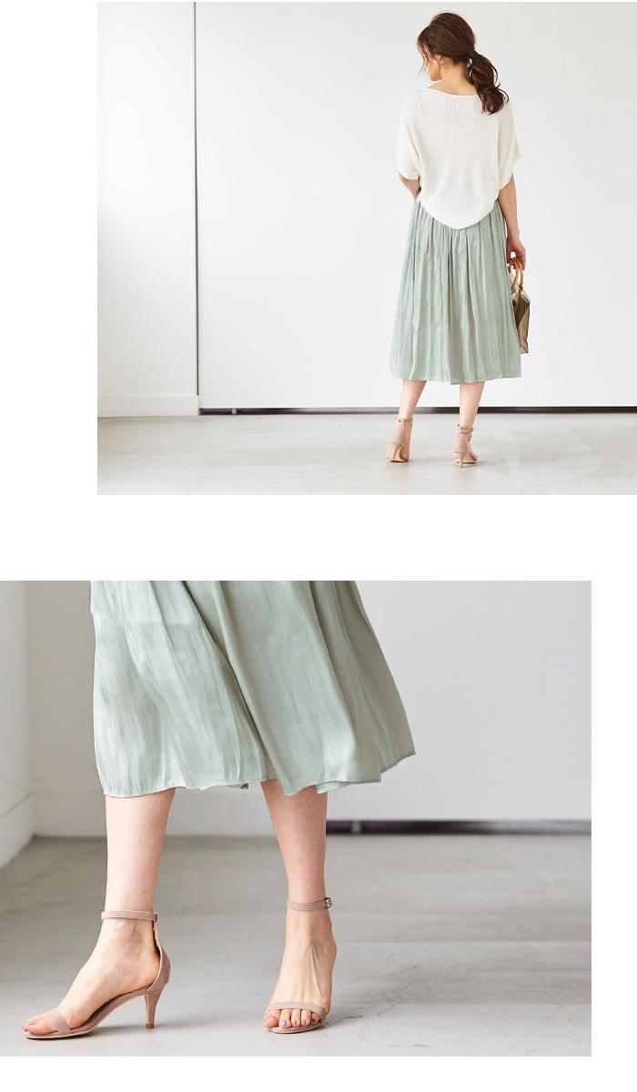シャイニーギャザースカート6