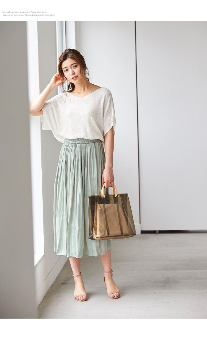 シャイニーギャザースカート11