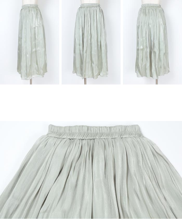 シャイニーギャザースカート14