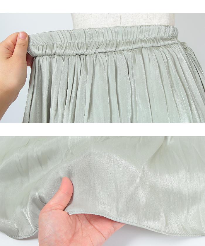 シャイニーギャザースカート15