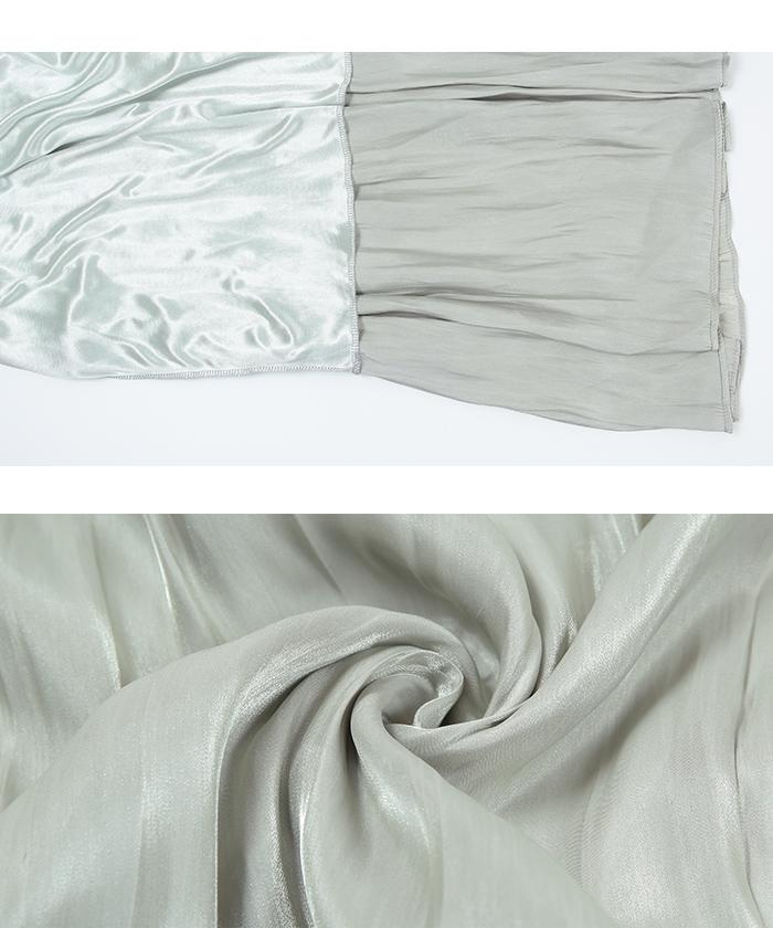 シャイニーギャザースカート16