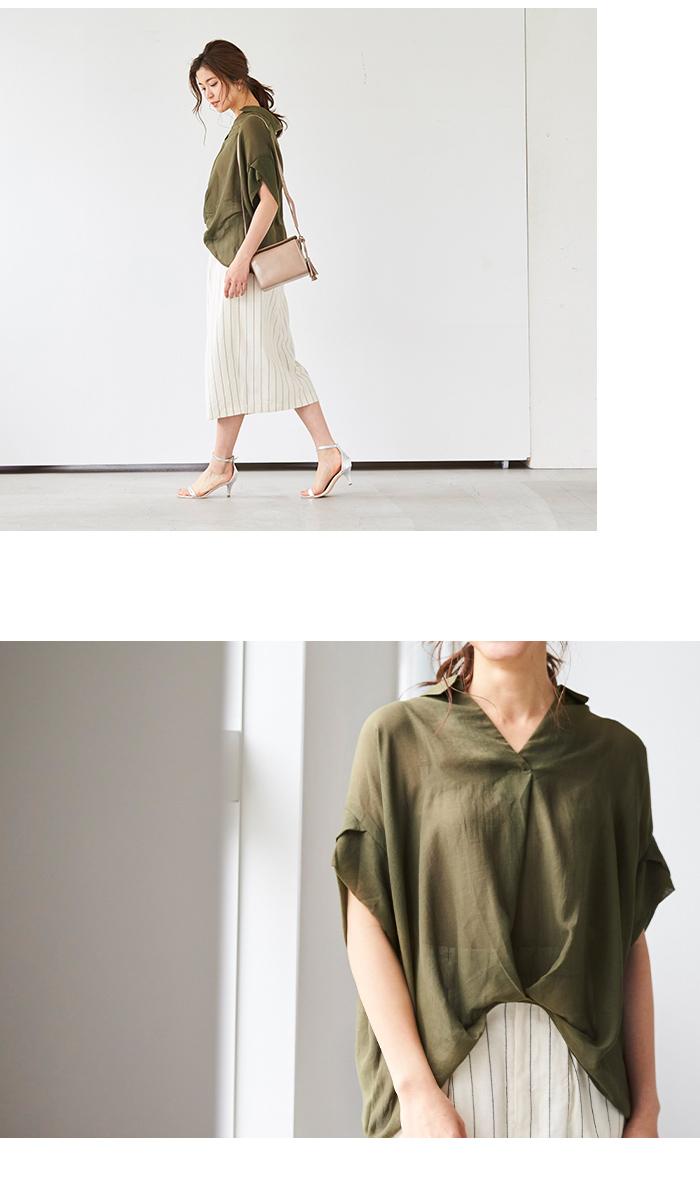 ボイルガーゼスキッパーシャツ6