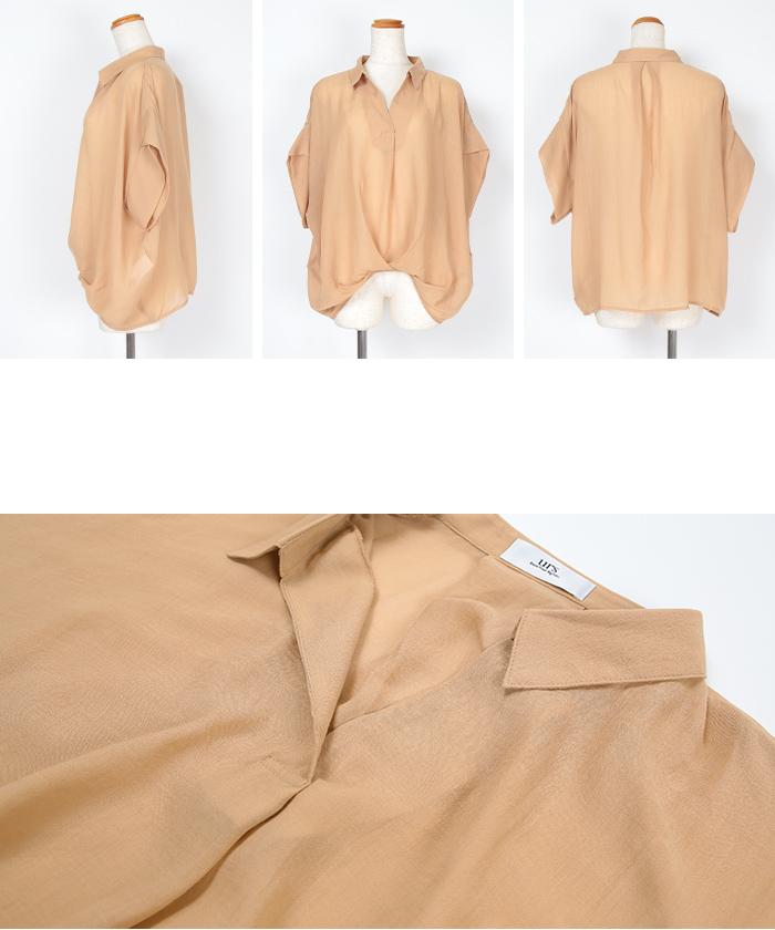 ボイルガーゼスキッパーシャツ14