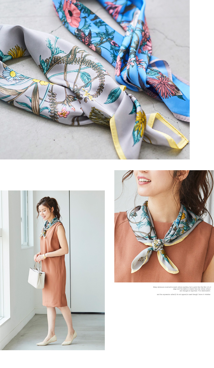 花柄プリントスカーフ3