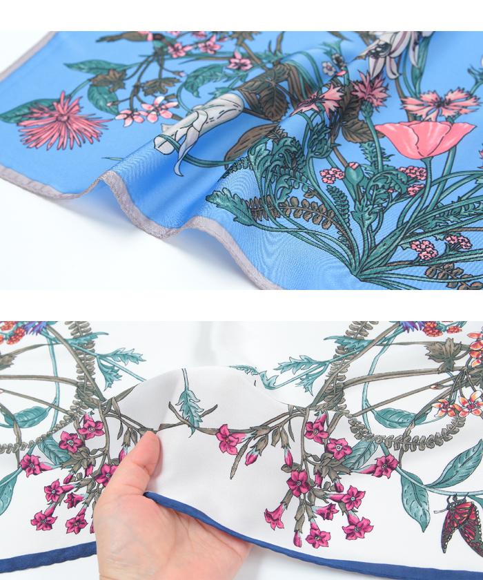 花柄プリントスカーフ15