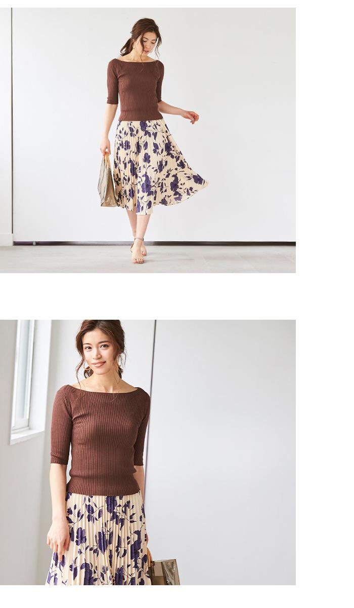 花柄プリーツスカート6