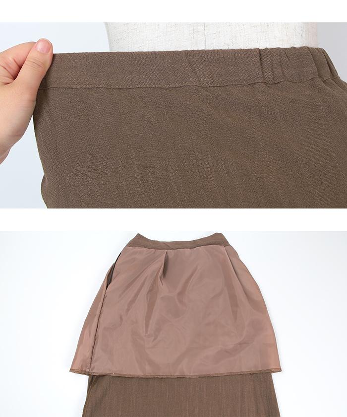 リネンタイトマキシ丈スカート15