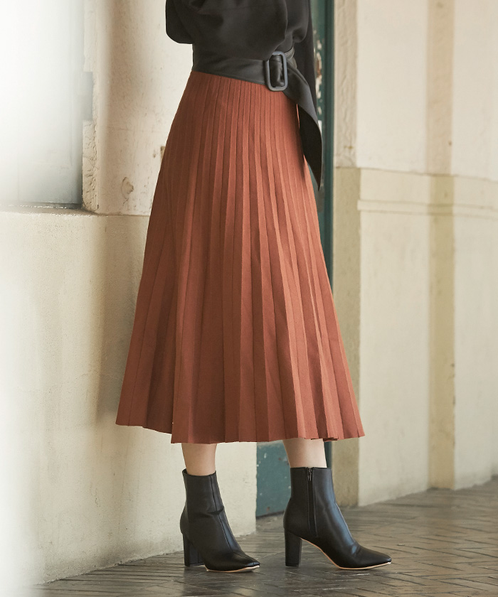 ニットプリーツスカート6