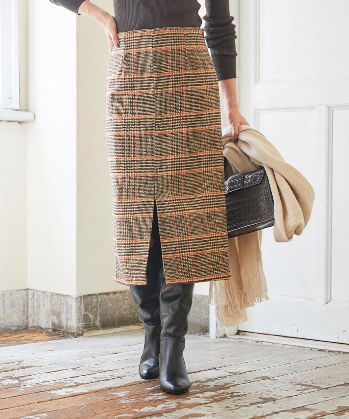 フロントスリットタイトスカート4