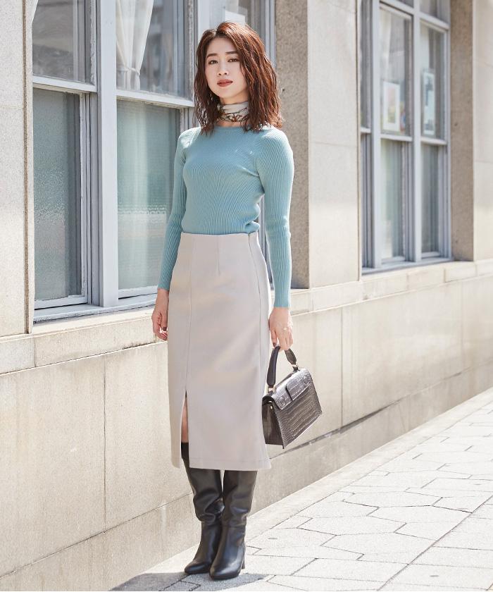 フロントスリットタイトスカート5