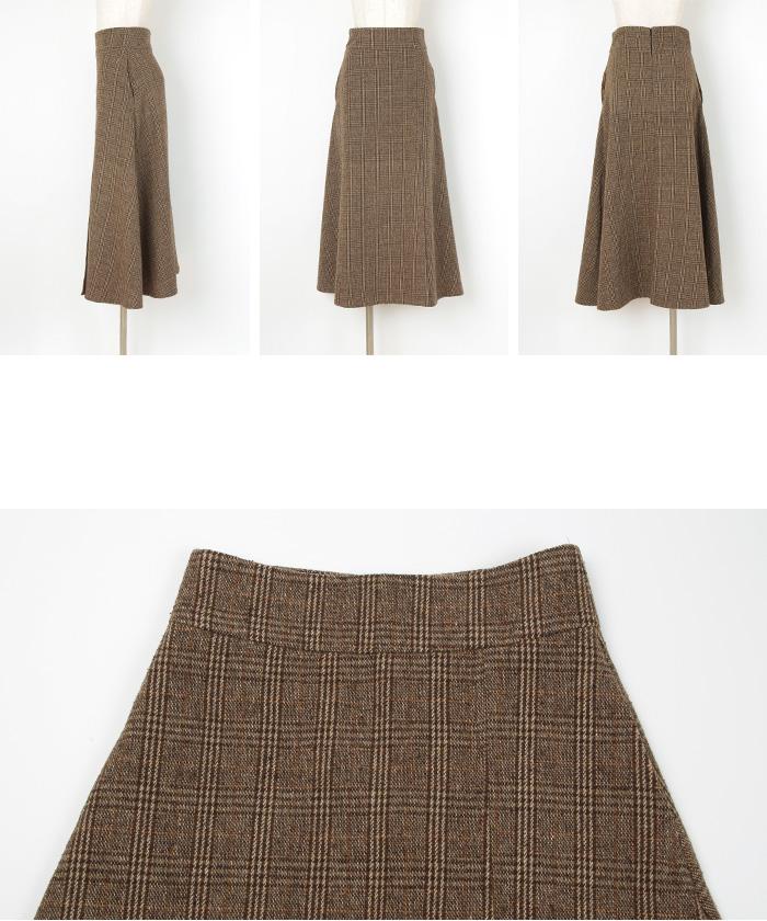 チェックラップフレアスカート14