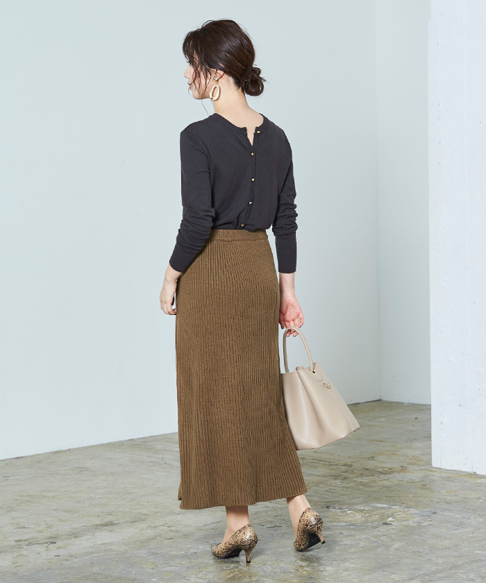 ラップロングニットスカート3