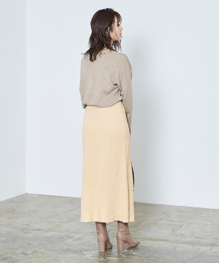 ラップロングニットスカート6