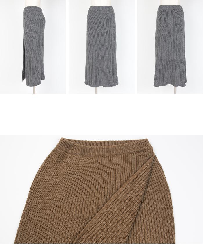 ラップロングニットスカート14