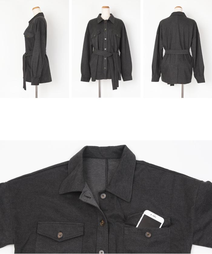 ウエストマークシャツジャケット14