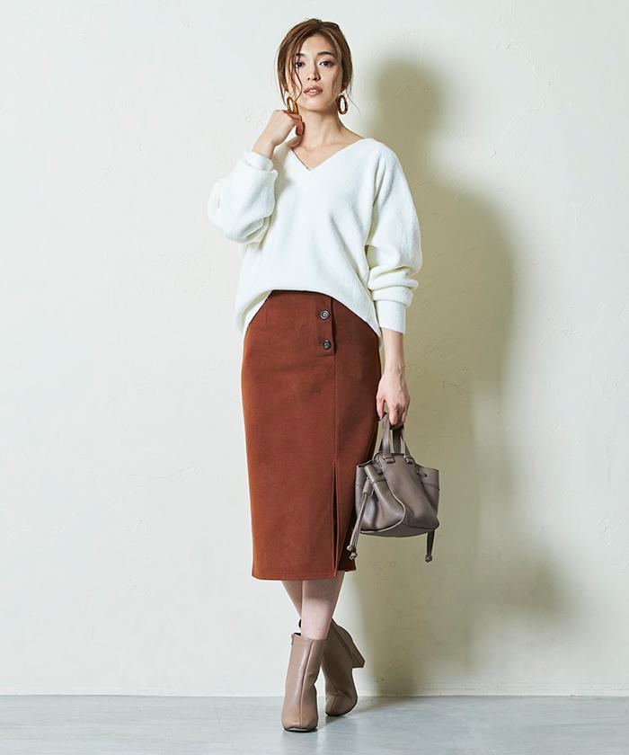 サイドボタンタイトスカート6