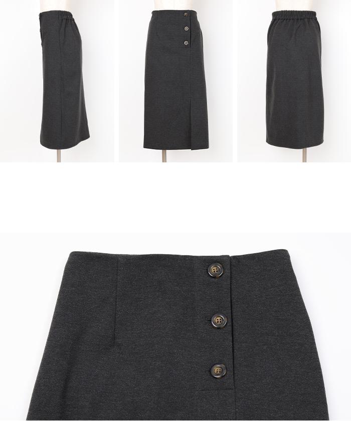 サイドボタンタイトスカート14