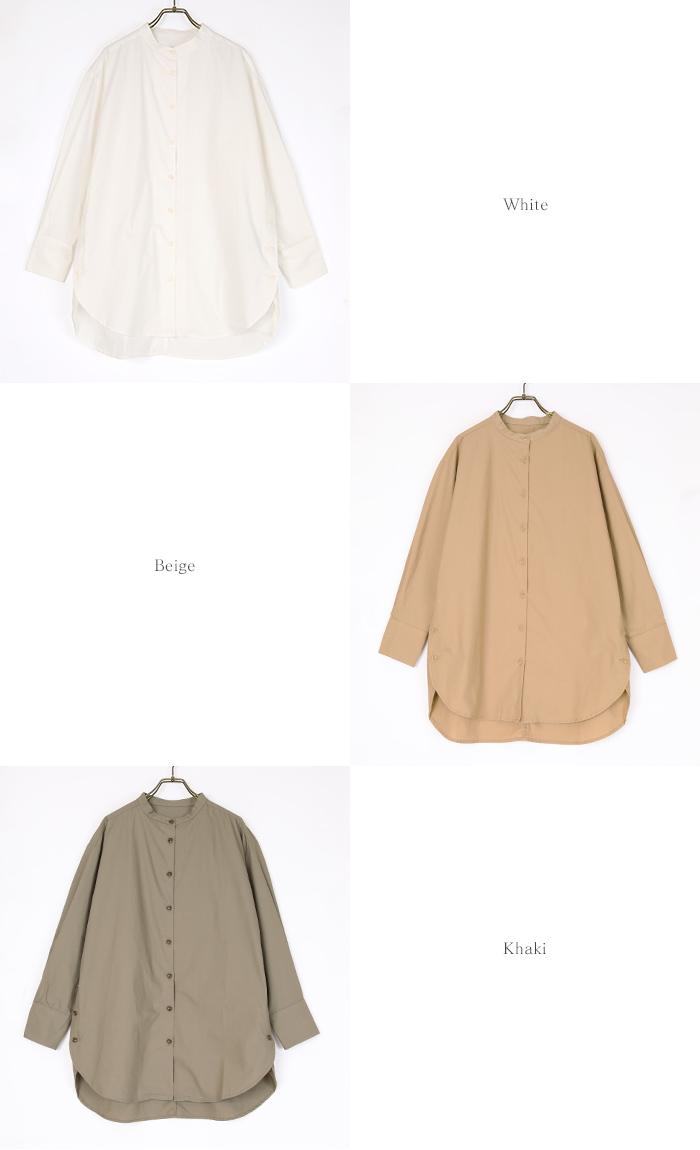 釦デザインロングシャツ13