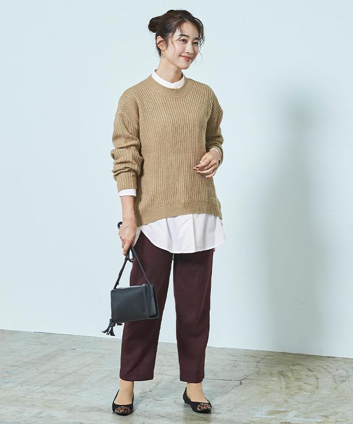 釦デザインロングシャツ6