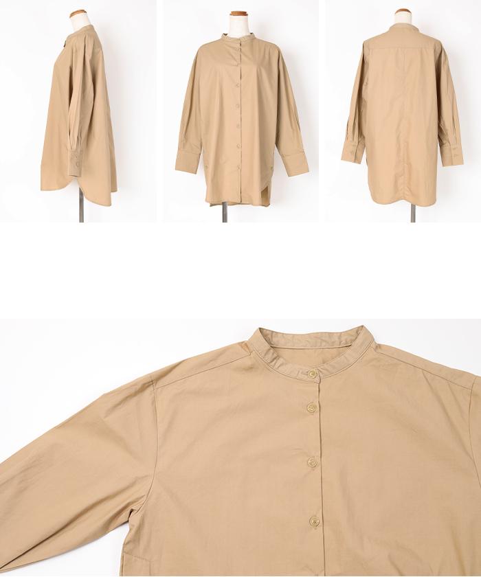 釦デザインロングシャツ14