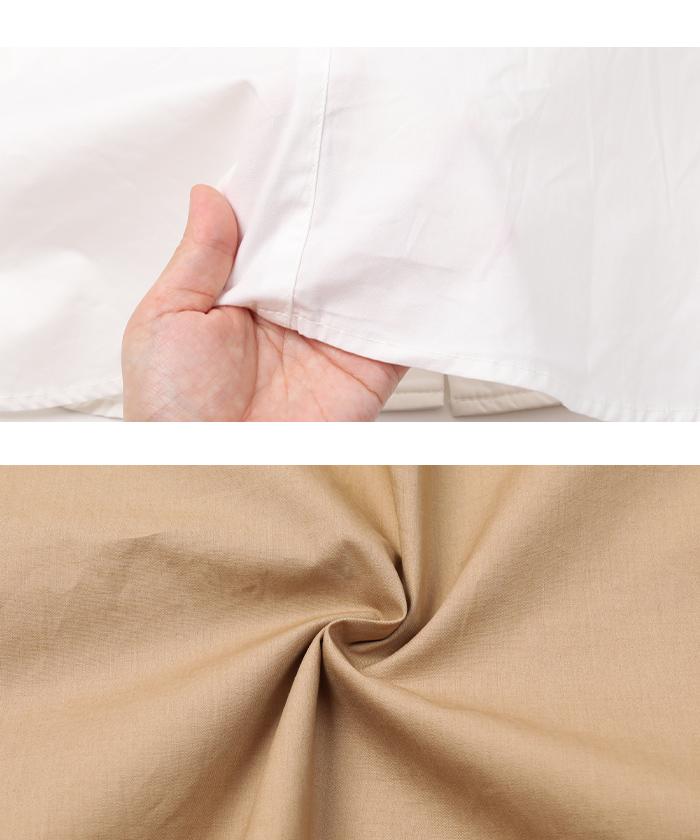 釦デザインロングシャツ16