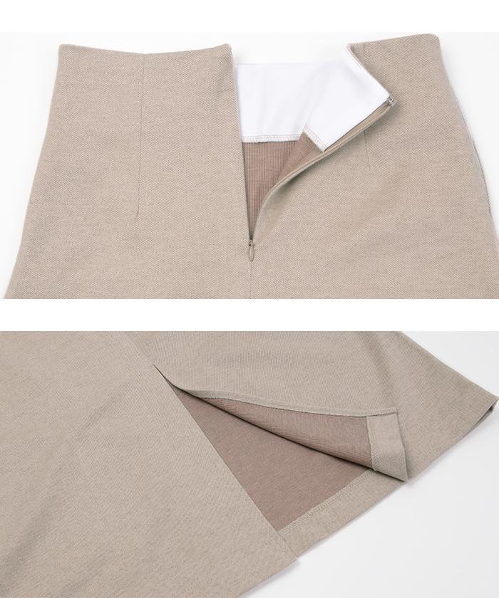 バックスリットロングスカート15