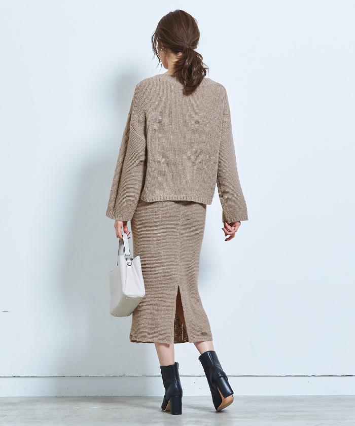 ケーブル編みタイトスカート3