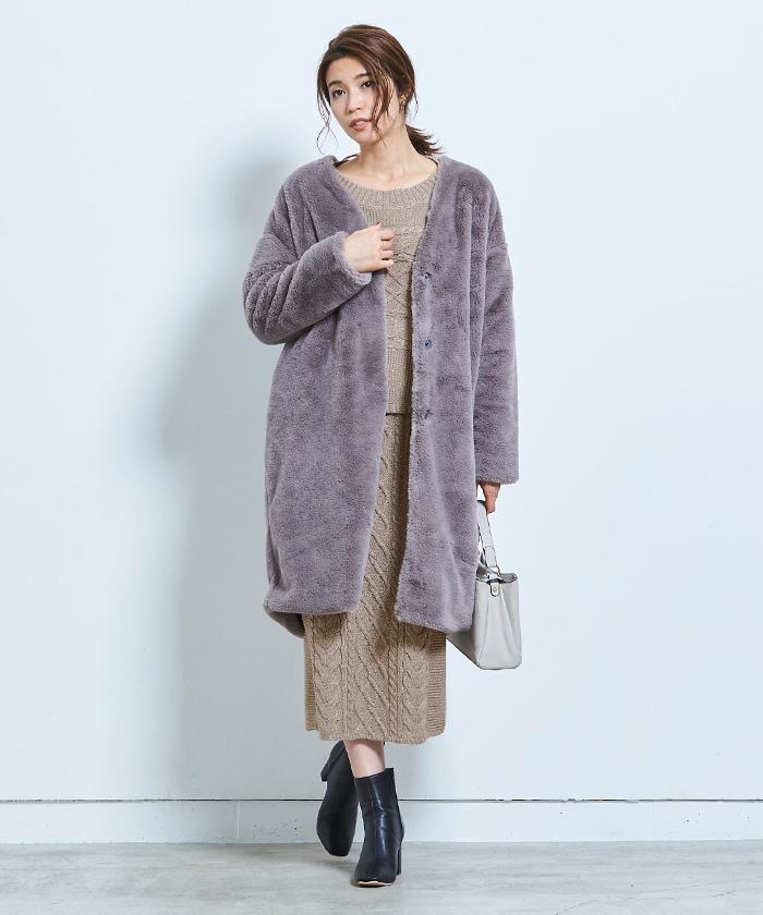 ケーブル編みタイトスカート4