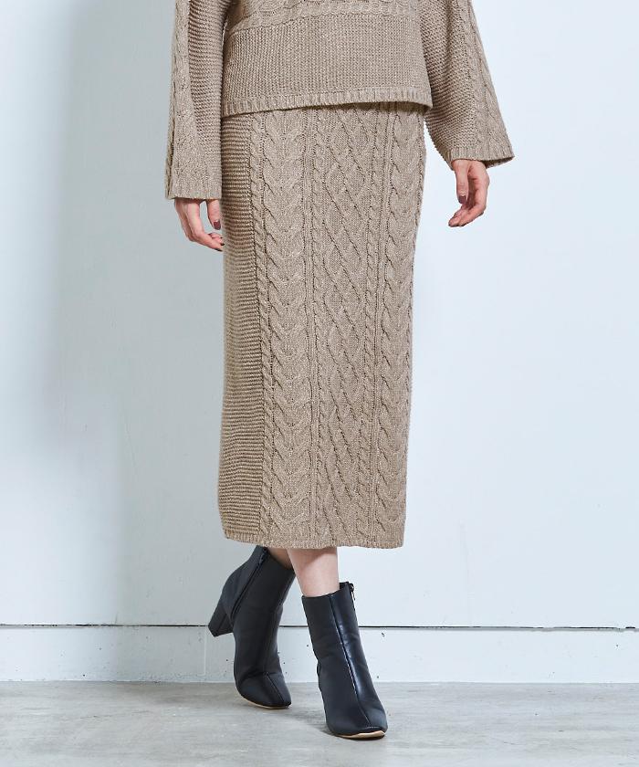 ケーブル編みタイトスカート5