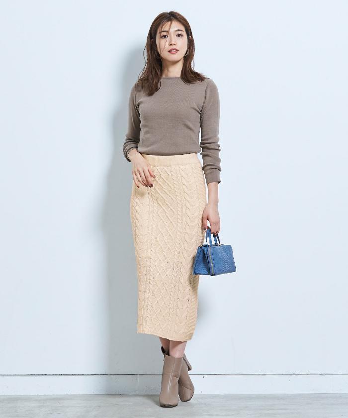 ケーブル編みタイトスカート6