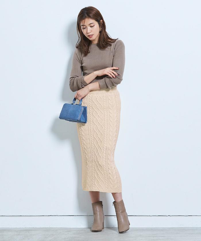 ケーブル編みタイトスカート7