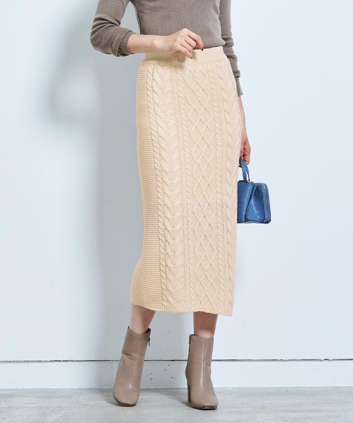 ケーブル編みタイトスカート8