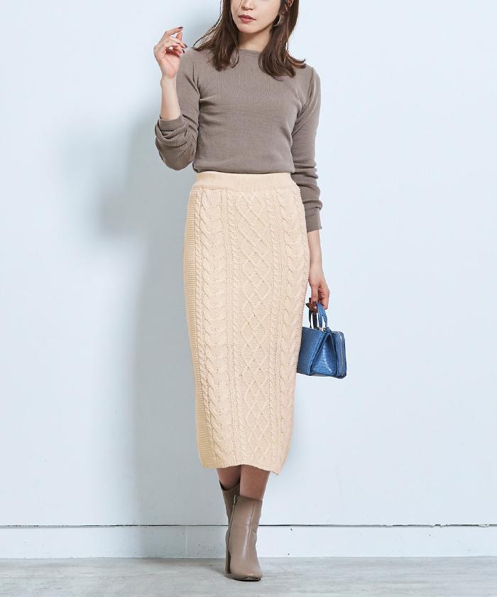 ケーブル編みタイトスカート9