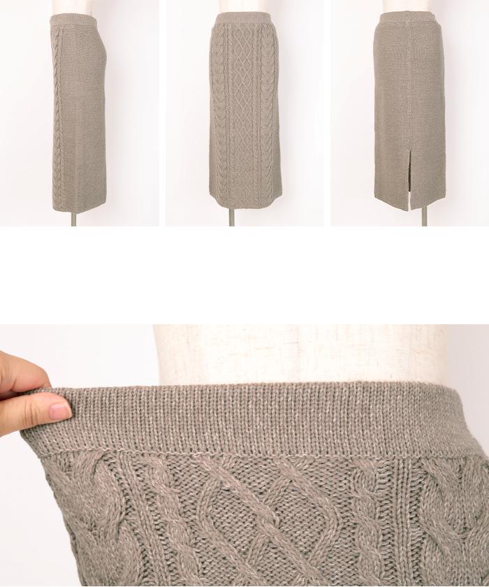 ケーブル編みタイトスカート14