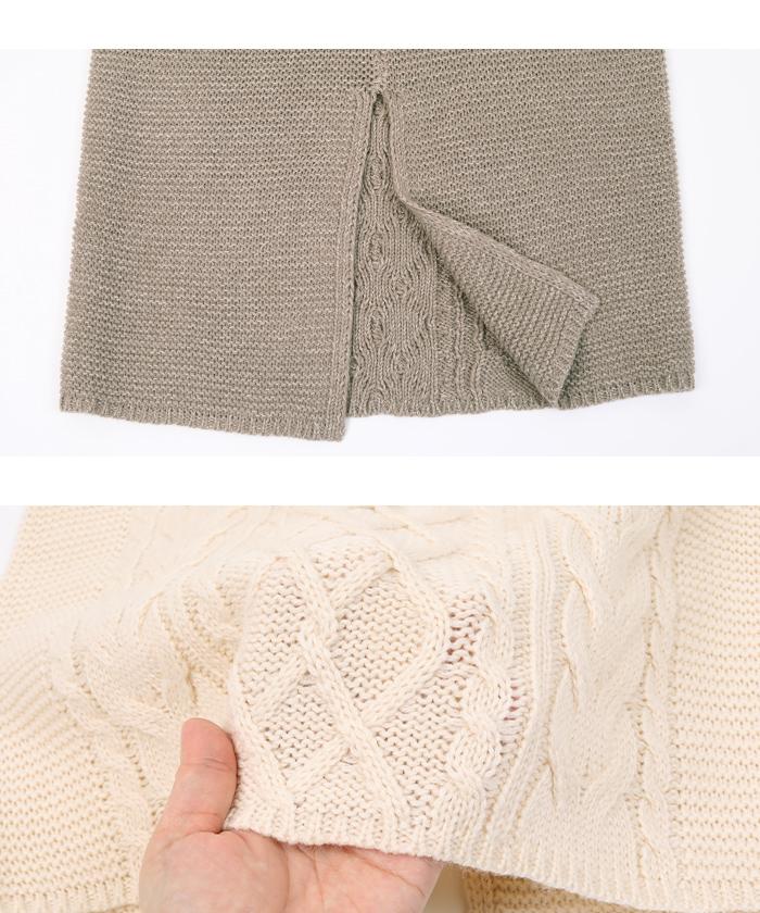 ケーブル編みタイトスカート15