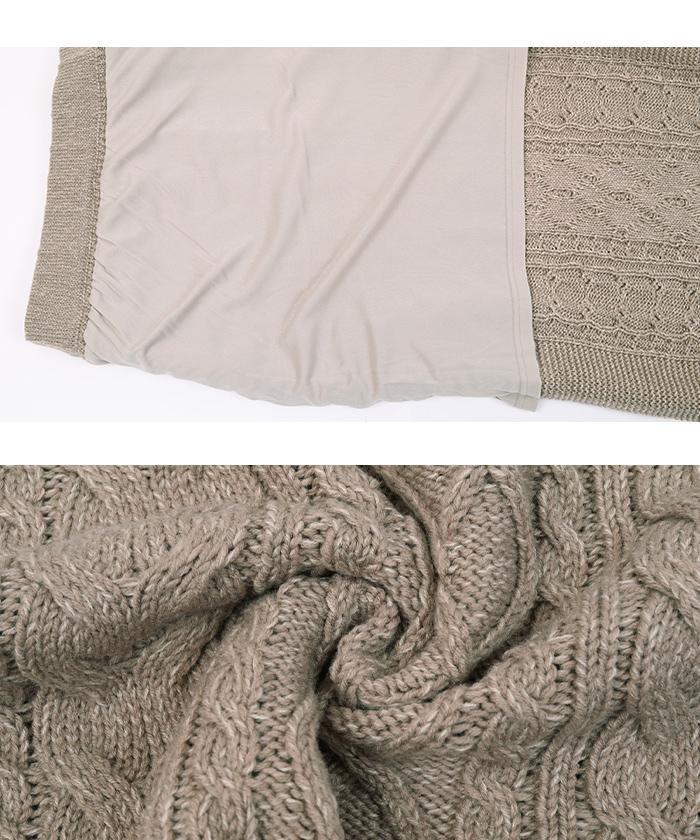ケーブル編みタイトスカート16