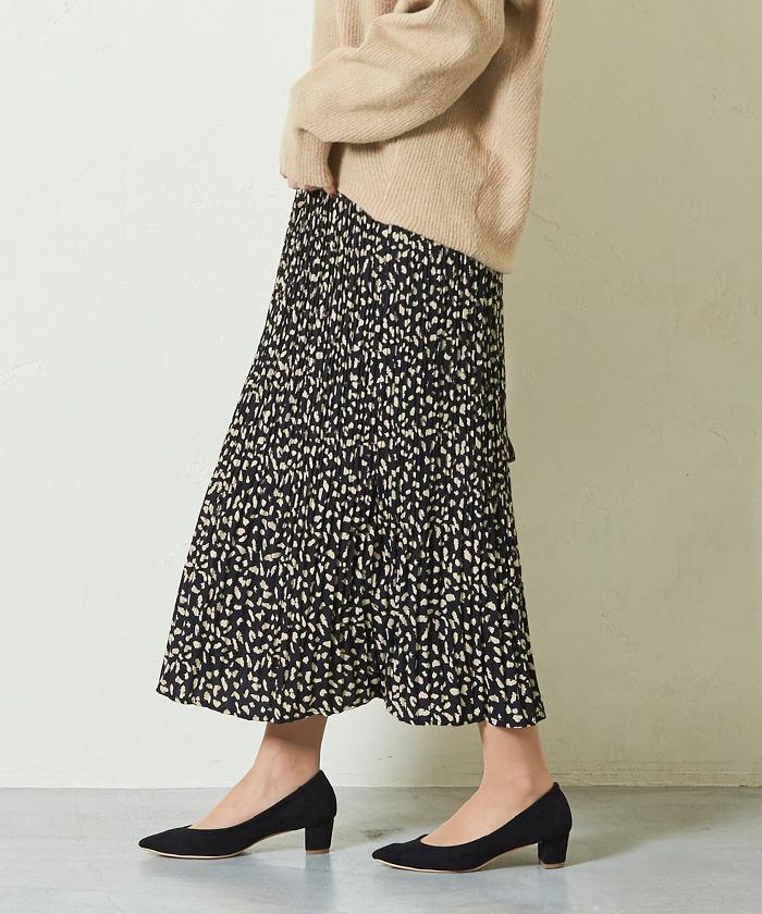 レオパード柄プリーツロングスカート8