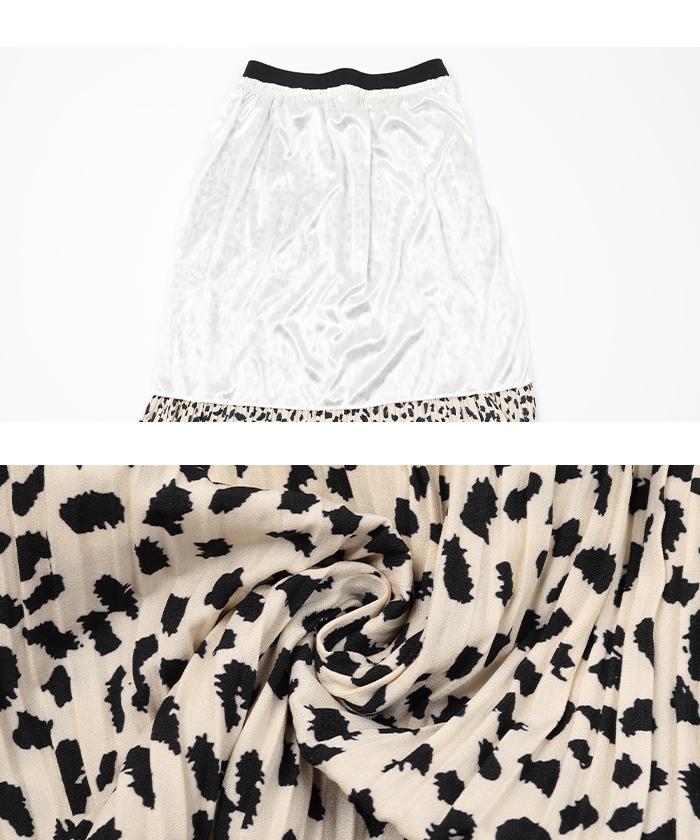 レオパード柄プリーツロングスカート16